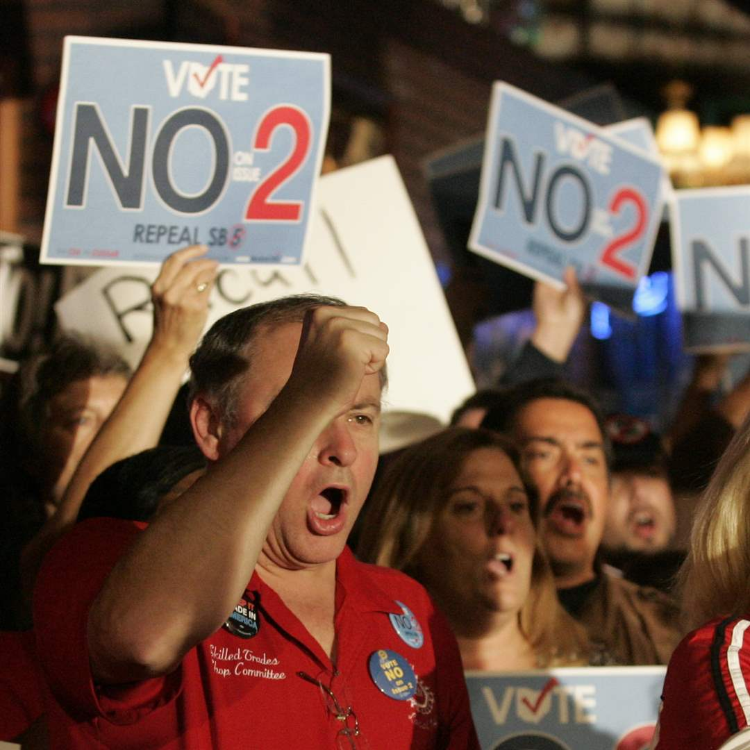 Ed-Show-Vote-No-signs