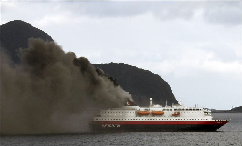 Hundreds Evacuated As Norwegian Cruise Ship Catches Fire