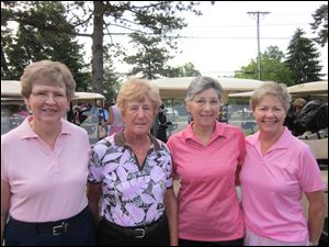 From left, Judy Kerl, Irma Lanzenberger, Mary Meyers, and Sandy Garvin at a Rally for the Cure event.