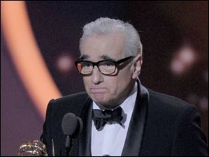 Martin Scorsese accepts the award for outstanding directing for a drama series for