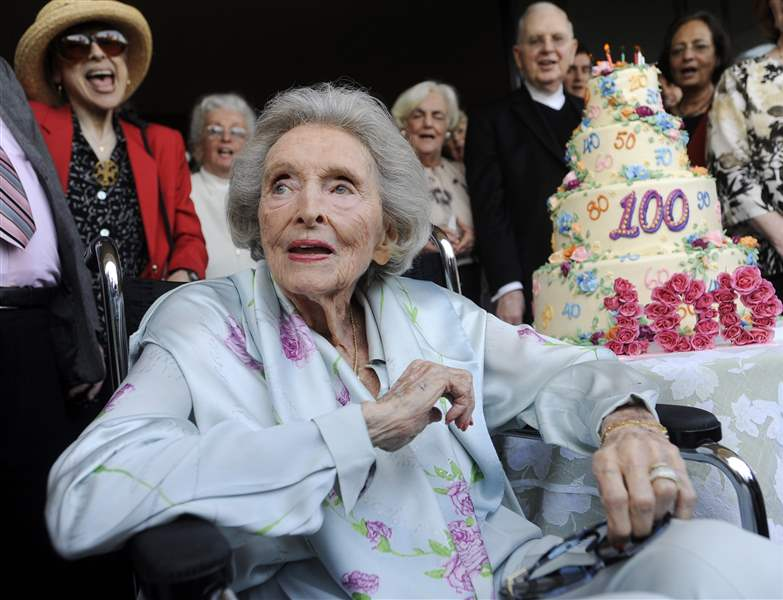 Dolores-Hope-100th-birthday-cake