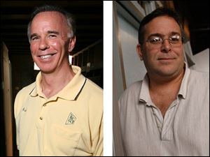 Paul Pellioni, left, a college friend of Mike Bell, gave the mayor $1,450, while James Nicholson, right, gave $1,250.