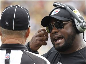 The Steelers' Mike Tomlin may have the same offensive line versus Indianapolis Sunday that started against Seattle.