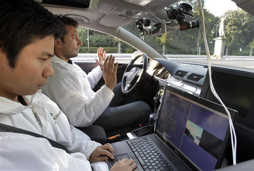 No-driver-required-for-high-tech-test-car