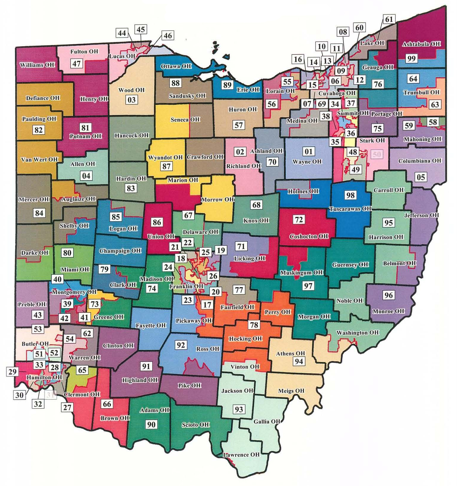 United States House Of Representatives Elections In Ohio - California us house of representatives map