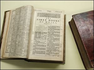 Two 400-year-old first edition King James Bibles that will be going on display at the Toledo Museum of Art.