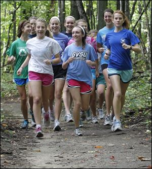 The top runners are (from  front left): Abby Masters, Alison Work, and Moe Dean.