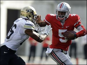 Ohio State's Braxton Miller has impressed Michigan State's coaches with his running ability.