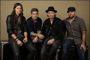 NEEDTOBREATHE band members are: Seth Bolt, Bo Rinehart, Bear Rinehart, and Joe Stillwell.