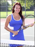 McKenzie Krieg sophomore tennis player at Anthony Wayne High School.