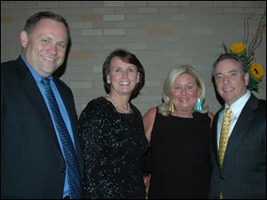 Jim Pope, president and CEO of Sylvania Franciscan Health, his wife Mary, a member of the Gala Committee, Rose Geswein, a member of the Gala Committee, and Gregory Geswein, chief financial officer for Libby, Inc.