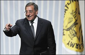 Defense Secretary Leon Panetta addresses the Association of the U.S. Army in Washington on Wednesday.