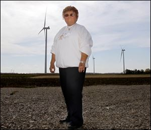 Village of Payne Mayor Nancy Speice owns two of the several wind turbines in Benton Township.