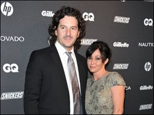Actress Shannen Doherty, right, and Kurt Iswarienko, pictured in a 2010 photo, married on Sunday.