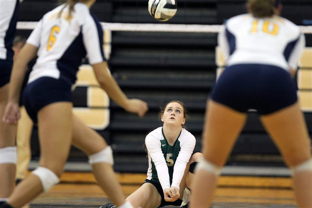 Central-Catholic-s-Kaitlin-Bronikowski-digs-a-Notre-Dame-serve