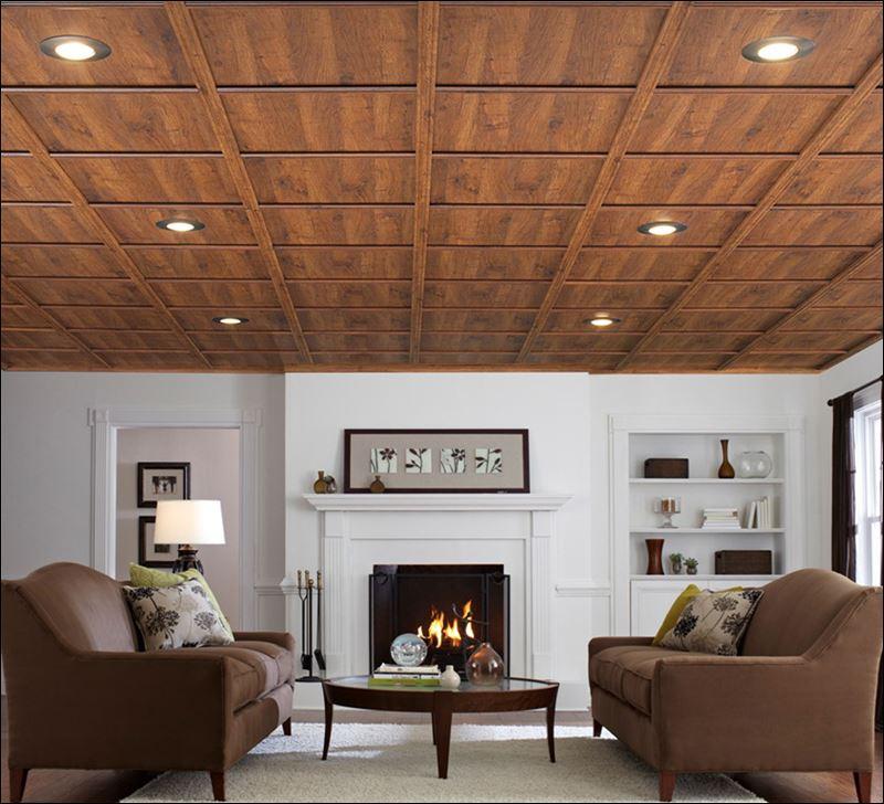 Drop ceiling tiles basement