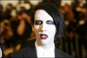 Marilyn Manson was named the No. 1 creepiest person in America in a recent E-Poll Market Research survey.