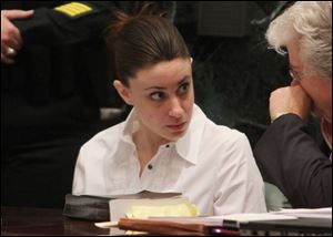 Casey Anthony was second only to Marilyn Manson, and beat O.J. Simpson in a survey of the top 10 creepiest people.