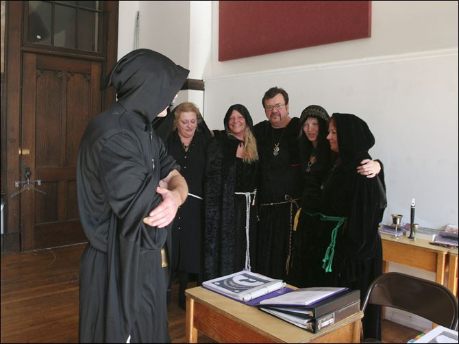 Samhein a spirtual day for Wiccans The classroom of the Northern Spirits Coven of Witches at the Collingwood Arts Center. Rick Werner is a leader of the Northern Spirits Coven of Witches, a Wiccan group that is holding a Witches Ball on Saturday.