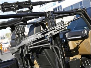 While the vehicle on display in Las Vegas is shown with an array of firearms attached, those won't come home with the winner, Mr. Dawes said.