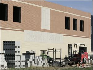 The new Lake High School in Millbury, Ohio is still under contruction.