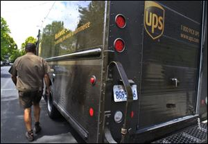 United Parcel Service expects to hire 55,000 temporary workers this year to handle an increase in holiday package shipping.