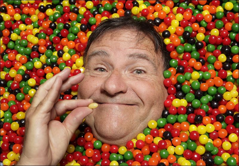David Klein, a man who invented the Jelly Belly, poses for photos in Covina - The-Candy-Man-David-Klein-Jelly-Belly
