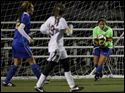 St. Ursula goalie Nicole Vahalik makes one of her 14 saves in regulation overtime during the second half against Walsh Jesuit.