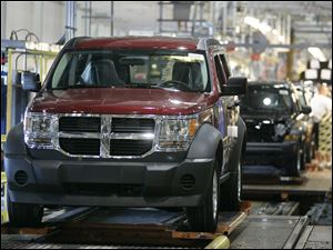 Chrysler Group LLC is expected to announce Wednesday it will invest $365 million in the Toledo factory that makes the Dodge Nitro, above. As many as 1,100 jobs plus expansion to make additional vehicles are among plans outlined in tax-aid applications.