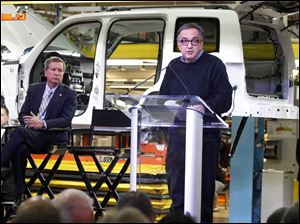 "Sergio Marchionne, right, said Wednesday that Jeep was ""truly one of the world's most legendary brands."