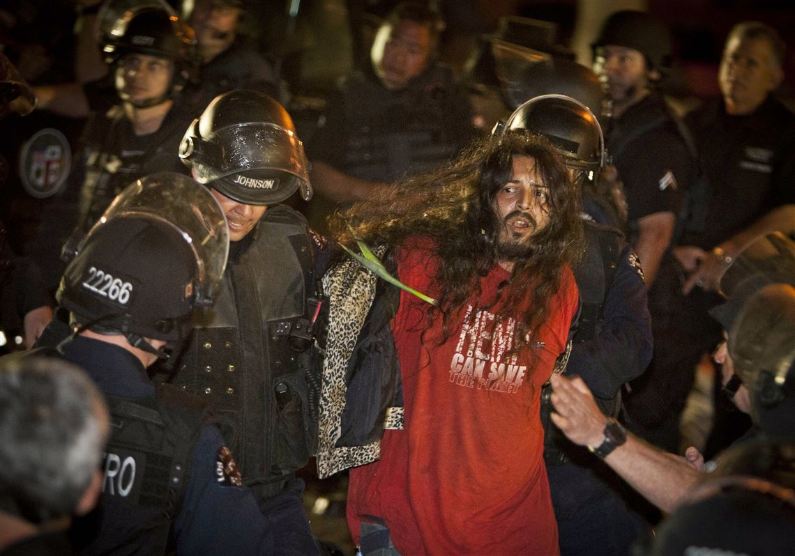 Police arrest more than 200 in Los Angeles and 50 in Philadelphia as