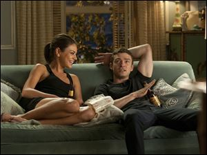 Mila Kunis and Justin Timberlake star in the film 'Friends With Benefits.'