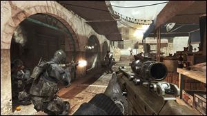 A screen shot from Call of Duty: Modern Warfare 3.