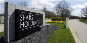 The entrance to the Sears Holdings Corp. Prairie Stone campus area in Hoffman Estates, Ill.