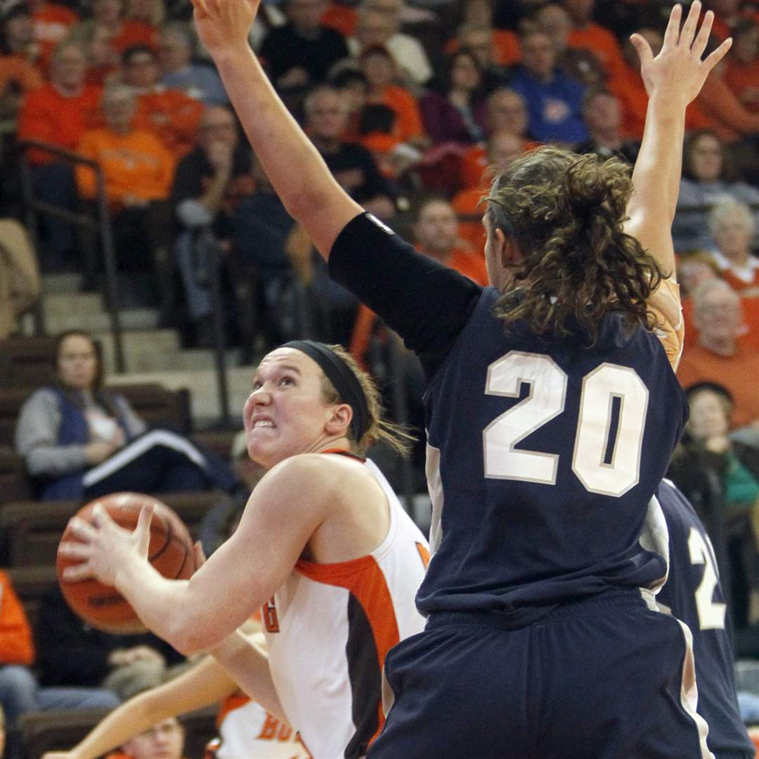 BGSU-s-Allison-Papenfuss-looks-to-shoot-while-defended-by-Butler-s-Becca-Bornhorst