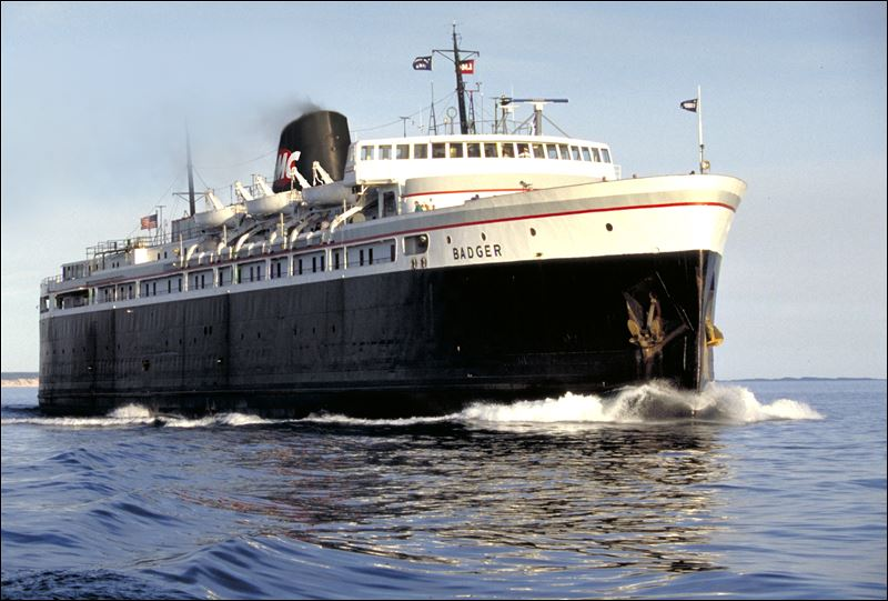 S.S. Badger is the nation's last operating coalfired ferry.