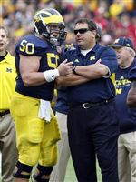 David-Molk-rimington-finalist-Brady-Hoke-coach-of-year-finalist