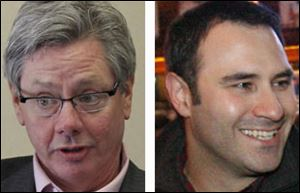 Democrat Pete Gerken, left, faces Republican Constantine Stamos, right, for county commissioner.
