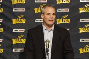 Former Toledo football coach Tim Beckman talks about his decision to become the coach at Illinois during a Sunday news conference.