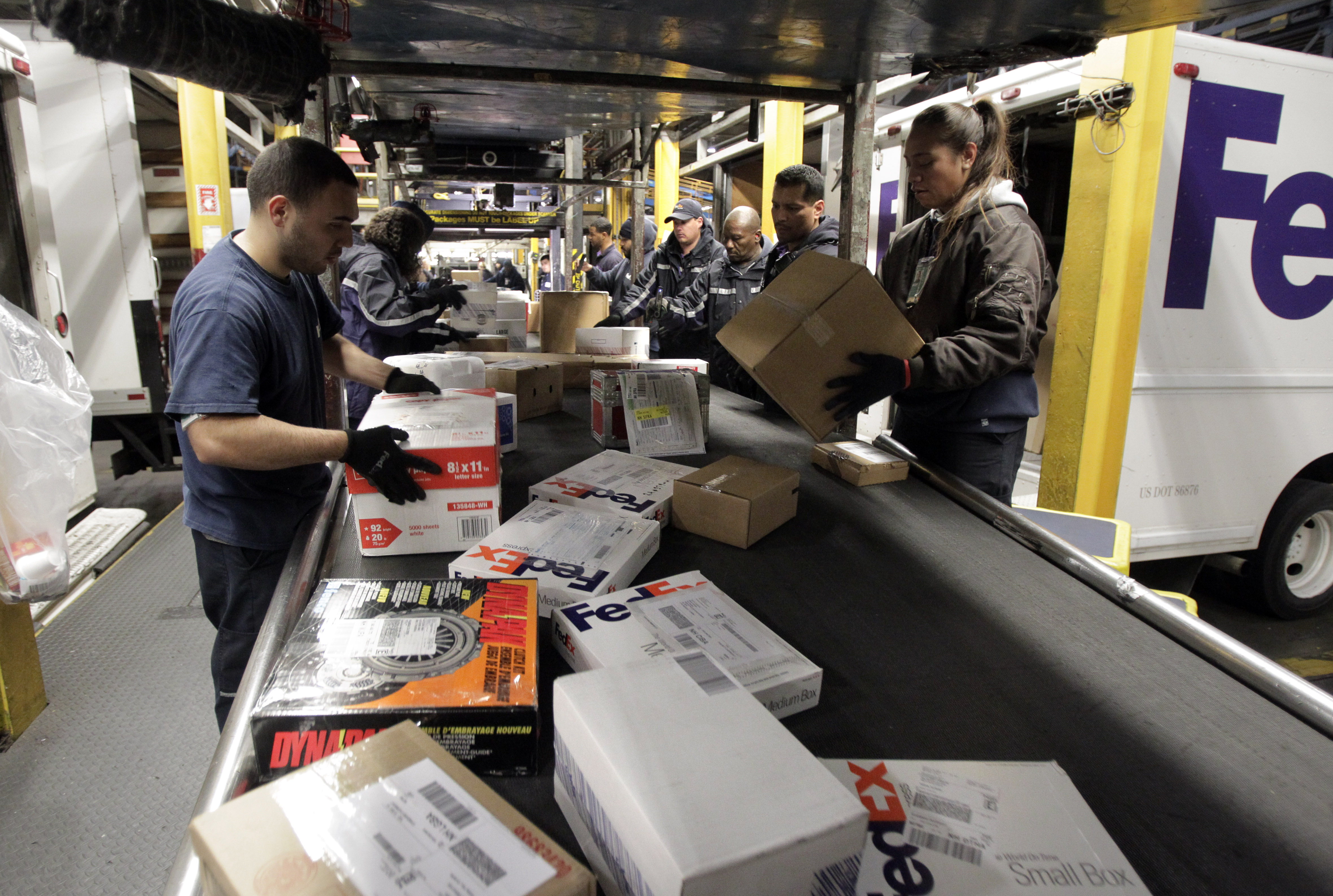 special technology staff fill in for elves at fedex hub
