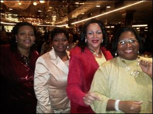 Clara Petty, Lisa Dubose, club president Denise Black-Poon, and Trevor Black.