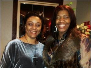 Sonya Taylor and event chairperson Donnetta Carter.