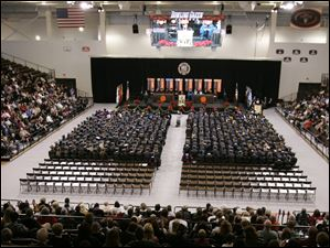 The Bowling Green State University's 272nd graduation at The Stroh Center at Bowling Green State University in Bowling Green, Ohio.