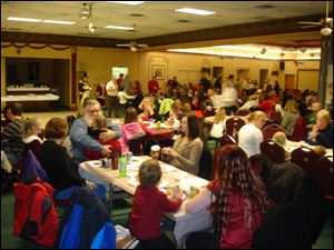 Sylvania Area Family Services center invited 80 children and their families to attend the event.