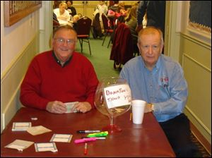 Elks Logdge members volunteered to raise money for the family services center.