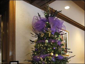 The Toledo Area Humane Society's tree in the Holiday Parade of Trees exhibit at the Toledo Club.