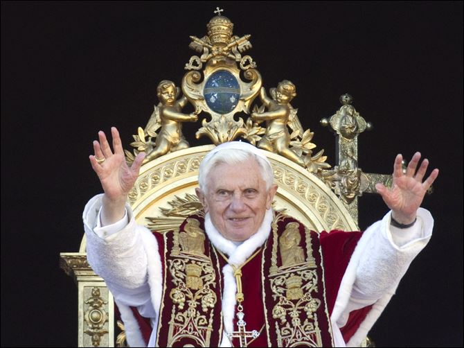 Vatican Christmas Pope Benedict XVI delivers his