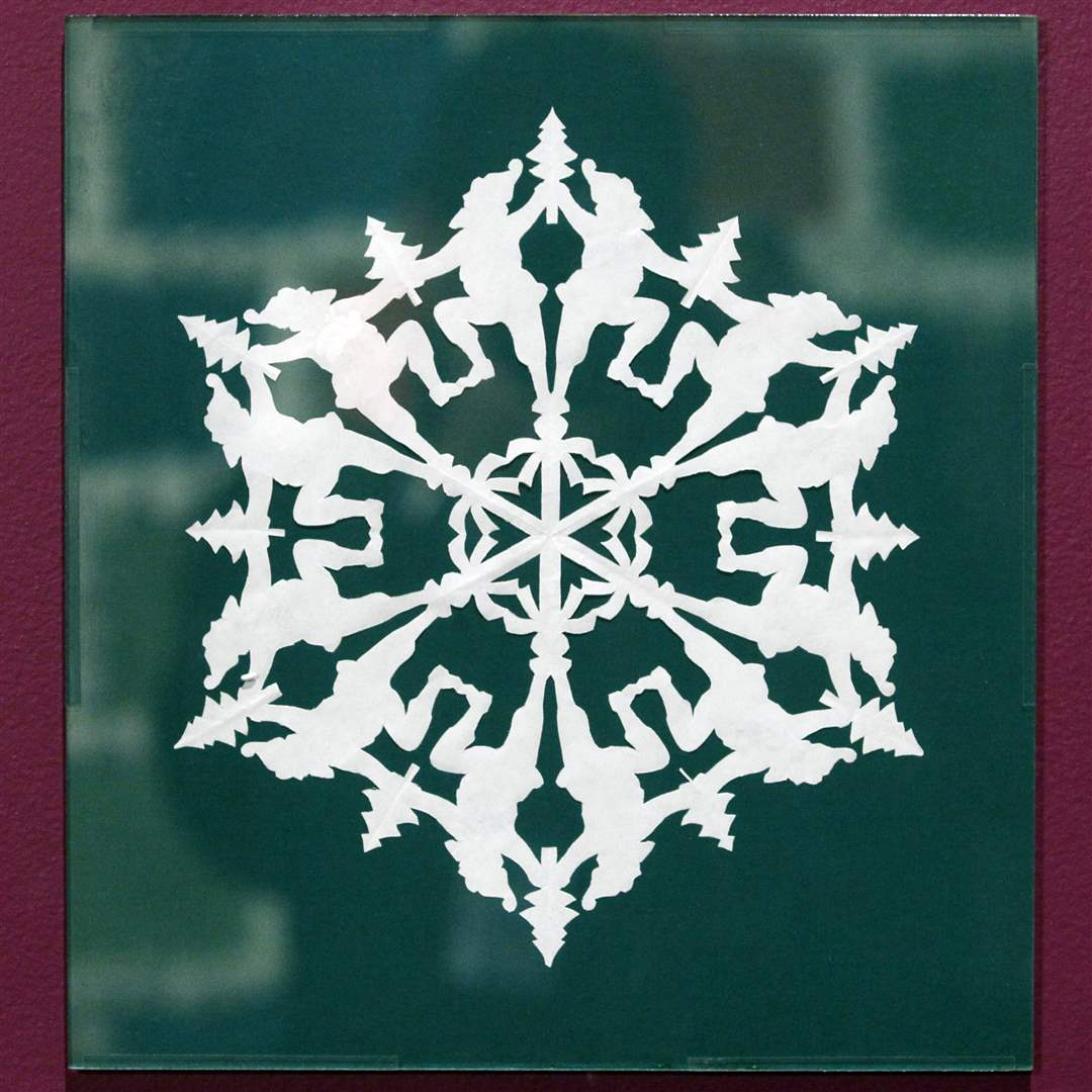 A-snowflake-on-display-made-by-Dr-Thomas-Clark