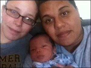 Shaken baby Averik Dominguez with Miranda Hughes, and father, Jonathan Dominguez.  Father, Jonathan Dominguez, was sentenced on Wednesday to four years in prison for causing severe injuries to his infant son resulting in significant disabilities.