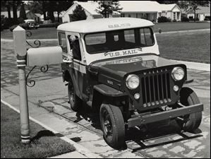 The first American car in thirty years to feature a right-hand drive came off the Willy's Motors Assembly Line in Toledo. The Jeep vehicle was made especially to order for the U.S. Post Office Department and was used on suburban mail routes in Toledo, Ohio.